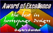 Award of Excellence form Gayla's Garden
